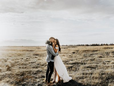 Liz+Michael// Stormy Field Engagements